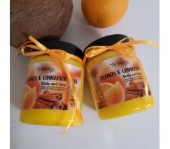 Скраб для тела и лица Апельсин, корица
