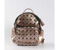 Яскравий рюкзак міні бронзовий