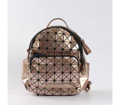 Яркий красочный рюкзак мини бронзовый