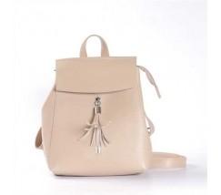 Современный рюкзак-сумка (трансформер) бежевий