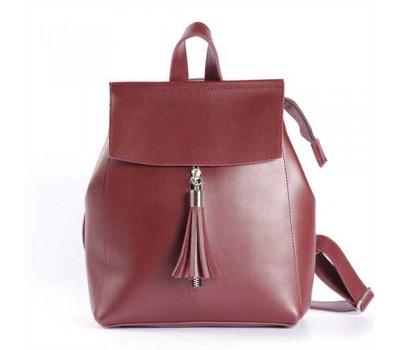 Современный рюкзак-сумка (трансформер) бордовый