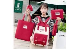 Набор рюкзак, сумка, пенал для школы, шоппинга, на каждый день