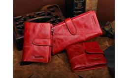 Женский кожаный кошелек для сумочек разных размеров