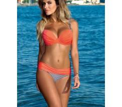 Женский яркий купальник на поролоне оранжевый
