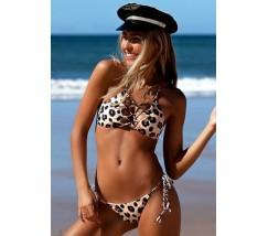 Купальник бикини бразилиана леопардовый