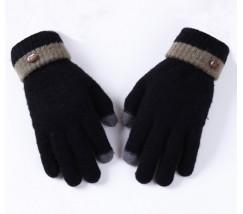 Сенсорные теплые перчатки черные