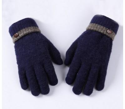 Сенсорные теплые перчатки синие