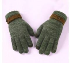 Сенсорные теплые перчатки зеленые
