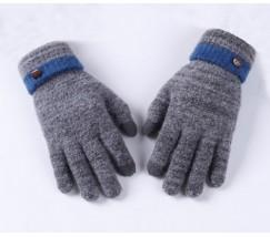 Сенсорные теплые перчатки серые