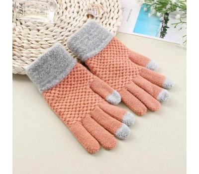 Перчатки для сенсорных экранов Touch Gloves персиковые