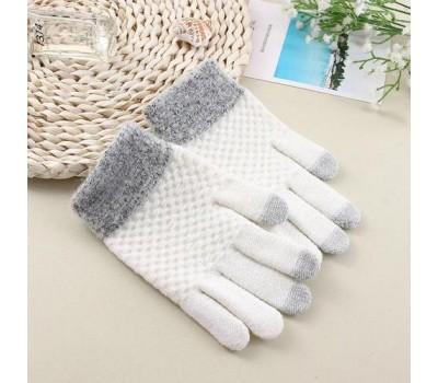 Перчатки для сенсорных экранов Touch Gloves белые