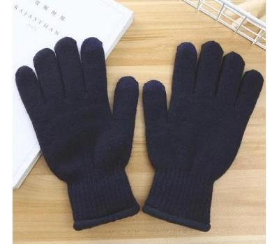 Перчатки утепленные для сенсорных экранов iFrost синие