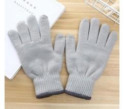 Перчатки утепленные для сенсорных экранов iFrost светло-серые