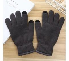 Перчатки утепленные для сенсорных экранов iFrost темно-серые