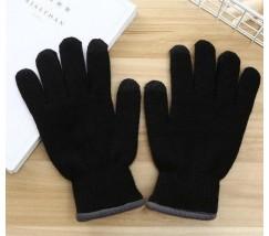 Перчатки утепленные для сенсорных экранов iFrost черные