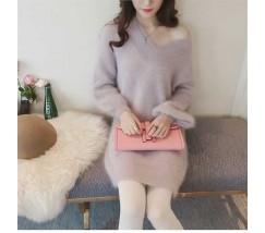 Женская туника кофта светло фиолетового цвета