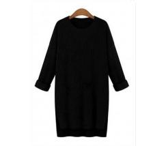 Женский свитер удлиненный черный