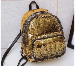 Рюкзак с пайетками желтый