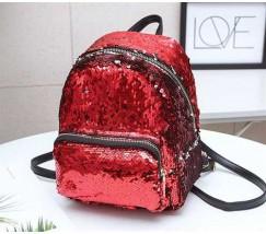 Рюкзак з паєтками червоний