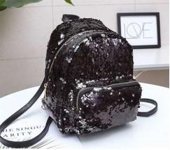 Рюкзак з паєтками чорний
