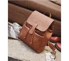 Великий рюкзак жіночий коричневий