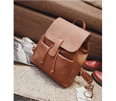 Большой рюкзак женский коричневый