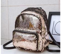 Рюкзак з паєтками бронзовий