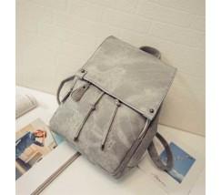 Вместительный женский рюкзак серый