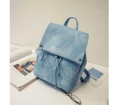 Вместительный женский рюкзак голубой