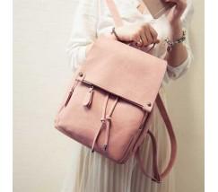 Вместительный женский рюкзак розовый