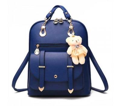 Рюкзак женский с брелком синий