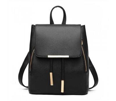 Стильный женский рюкзак черный