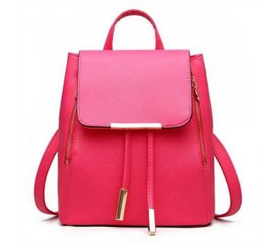 Стильный женский рюкзак ярко розовый