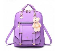 Рюкзак женский с брелком фиолетовый