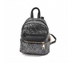 Маленький рюкзак черный с блестками