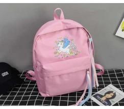 Великий рюкзак з єдинорогом рожевий