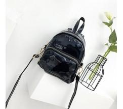 Маленький голограмний рюкзак чорний