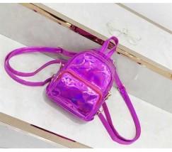 Маленький голограмний рюкзак рожевий