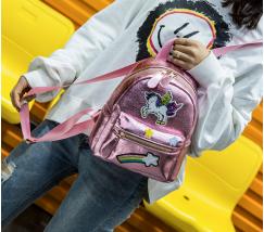 Маленький детский рюкзак Единорог розовый