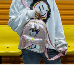 Маленький детский рюкзак Единорог светло-розовый