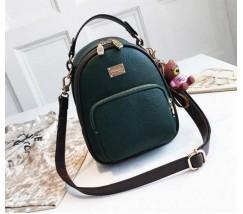 Модный женский рюкзак-сумка зеленый
