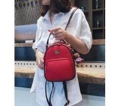 Модный женский рюкзак-сумка красный