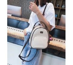 Модный женский рюкзак-сумка белый
