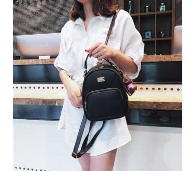 Модный женский рюкзак-сумка черный