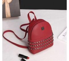 Модный маленький женский рюкзак красный