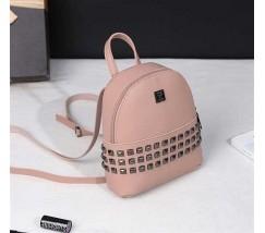 Модный маленький женский рюкзак розовый