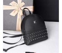 Модный маленький женский рюкзак черный