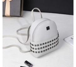 Модный маленький женский рюкзак белый