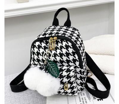 Маленький рюкзак тканевой черный