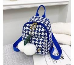 Маленький рюкзак тканевой синий